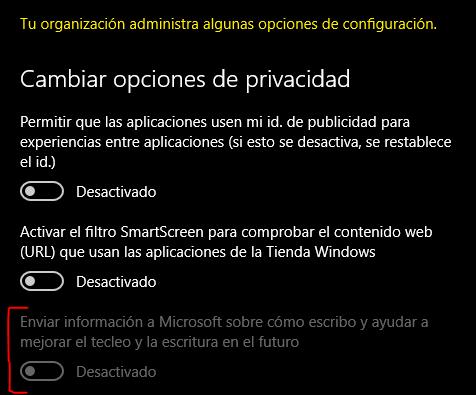 Version sin keylogger de Windows 10