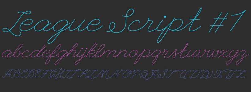 League Script es una fuente similar a la escrita a mano