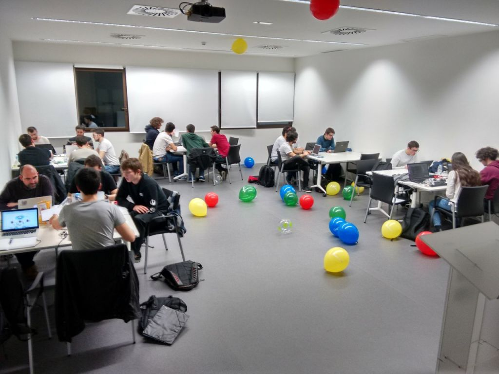 Nuestro hub en el Google HashCode con todos los participantes