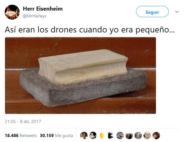 Los drones tambien son objeto de nuestro humor en bits