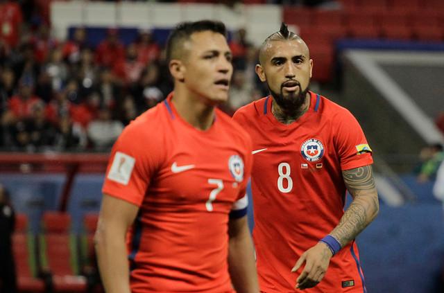 Alexis Sánchez y Arturo Vidal en la Selección Chilena