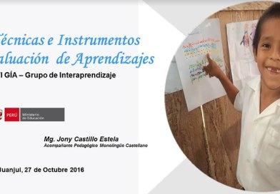Técnicas e Instrumentos de Evaluación de Aprendizajes