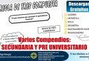 Varios Compendios: Secundaria, Pre Universitario, Álgebra, Aritmética, Física, Geometría, Razononamiento Matemático y Trigonometría