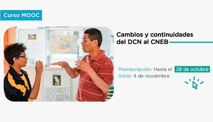 """Preinscríbete al cuarto curso Mooc: """"Cambios y continuidades del DCN al CNEB"""""""