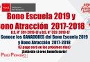 MINEDU: Conoce los GANADORES del Bono Escuela 2019 y Bono Atracción  2017-2018, COMUNICADO URGENTE ordena pago en los próximos días, www.minedu.gob.pe