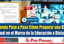 IMPORTANTE: Aprenda Paso a Paso Cómo Preparar una Clase Virtual en el Marco dela Educación a Distancia [Descargar guía aquí]