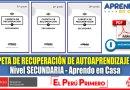 IMPORTANTE: Carpeta de Recuperación de Autoaprendizaje para Nivel Secundaria [Descarga aquí][PDF]