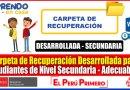 IMPORTANTE: CARPETA DE RECUPERACIÓN DESARROLLADA para Estudiantes de Nivel Secundaria Totalmente Adecuables [Descarga aquí][Word]
