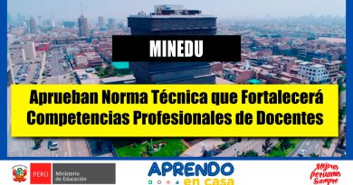 MINEDU: Aprueban Norma Técnica que Fortalecerá Competencias Profesionales de Docentes [Infórmate aquí]