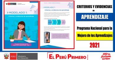 IMPORTANTE: Criterios y Evidencias de APRENDIZAJE – Programa Nacional para la Mejora de los Aprendizajes [Conócelo aquí]