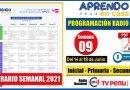 Nuevo Horario Semanal – Programación Radio y TV SEMANA 09 [Del 14 al 18 de Junio 2021] Inicial, Primaria y Secundaria [Descarga aquí]