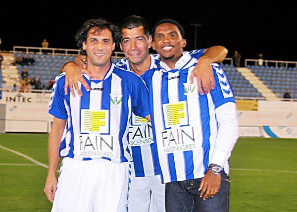 Óscar Fernández, Pepe Mesas y Samuel Eto'o