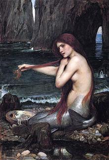 """""""Sirena"""", pintada por John Waterhouse."""