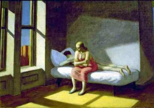 """La mirada ausente"", de Edard Hopper"