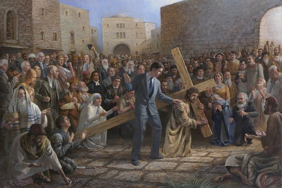 """""""Jesús cargando la cruz"""", de John McNaughton."""