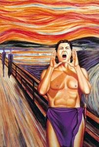 """""""El grito..."""" de Edvard Munch en versión de Antonio de Felipe. Imagen procedente del blog www.gallinaypico.wordpress"""