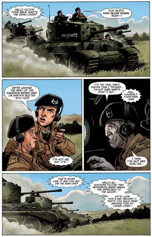 World of Tanks Roll Out comic book Preview page
