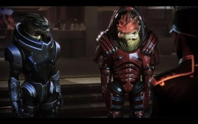 mass effect garrus wrex