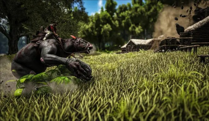 ark-survival-evolved-chalicotherium-boulder-throwing-670x388