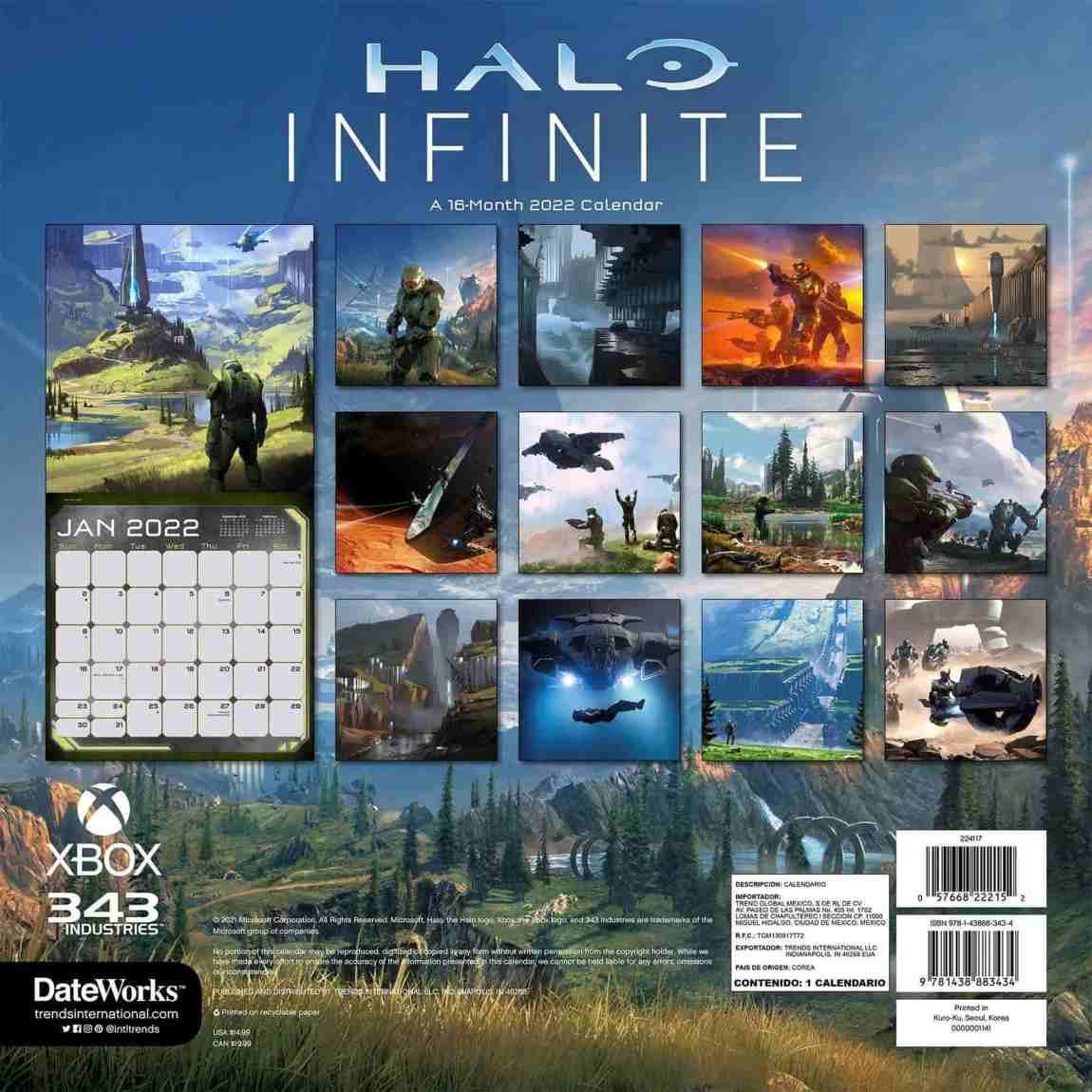 Halo Infinite 2022 Calendar Reveals Never-Before-Seen Images 1