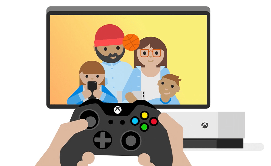 Xbox with family games