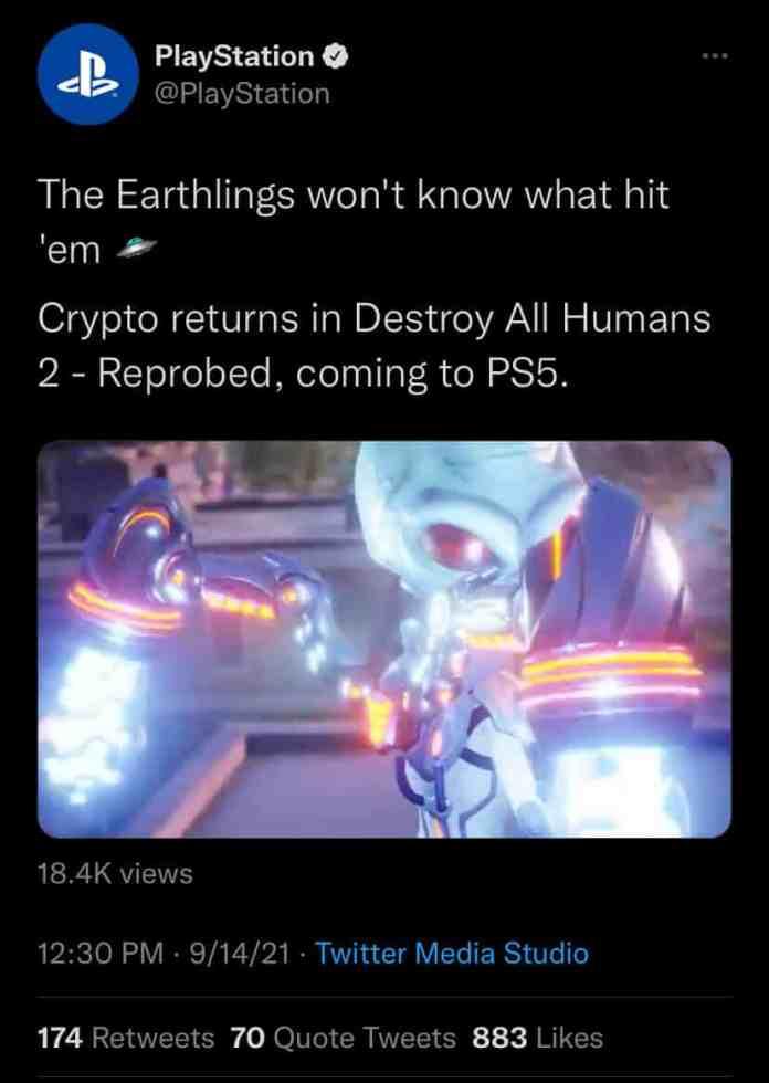 Destroy All Humans 2 Reprobed remake
