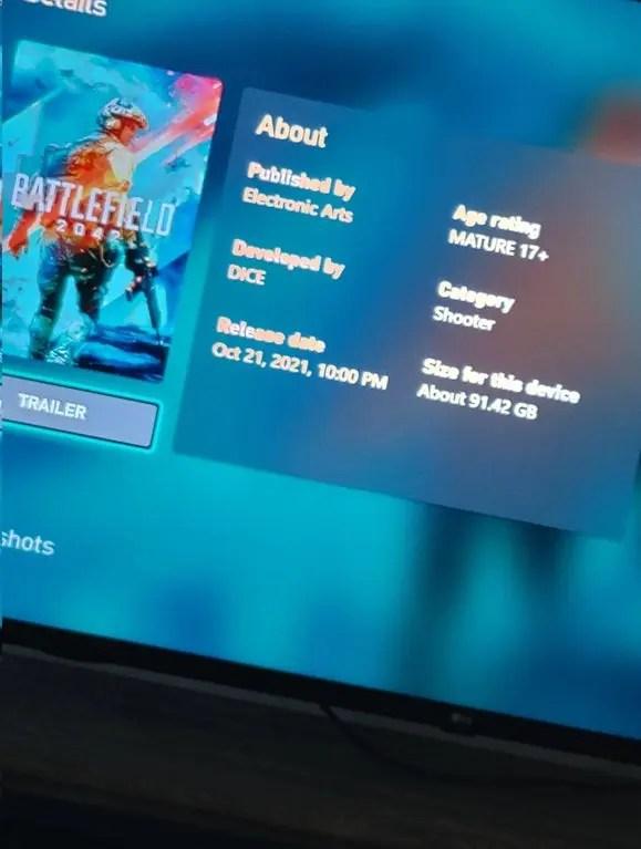 Battlefield 2042 download size