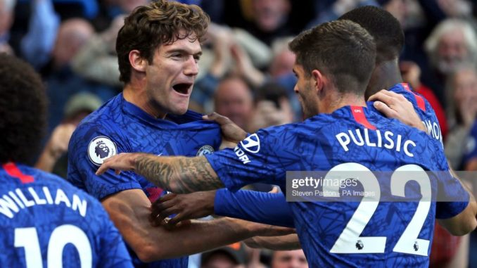 Pulisic playing a great role as Marcos Alonso late goal pushes Chelsea upwards