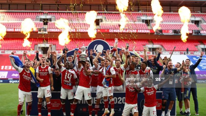 FA Cup final Arsenal beat Chelsea 2 1 to claim trophy