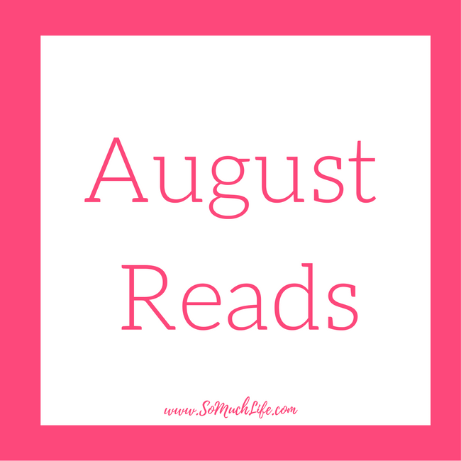All the books I read in August!