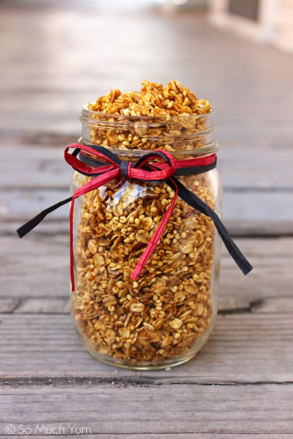 Toaster Oven Pumpkin Pie Granola | So Much Yum