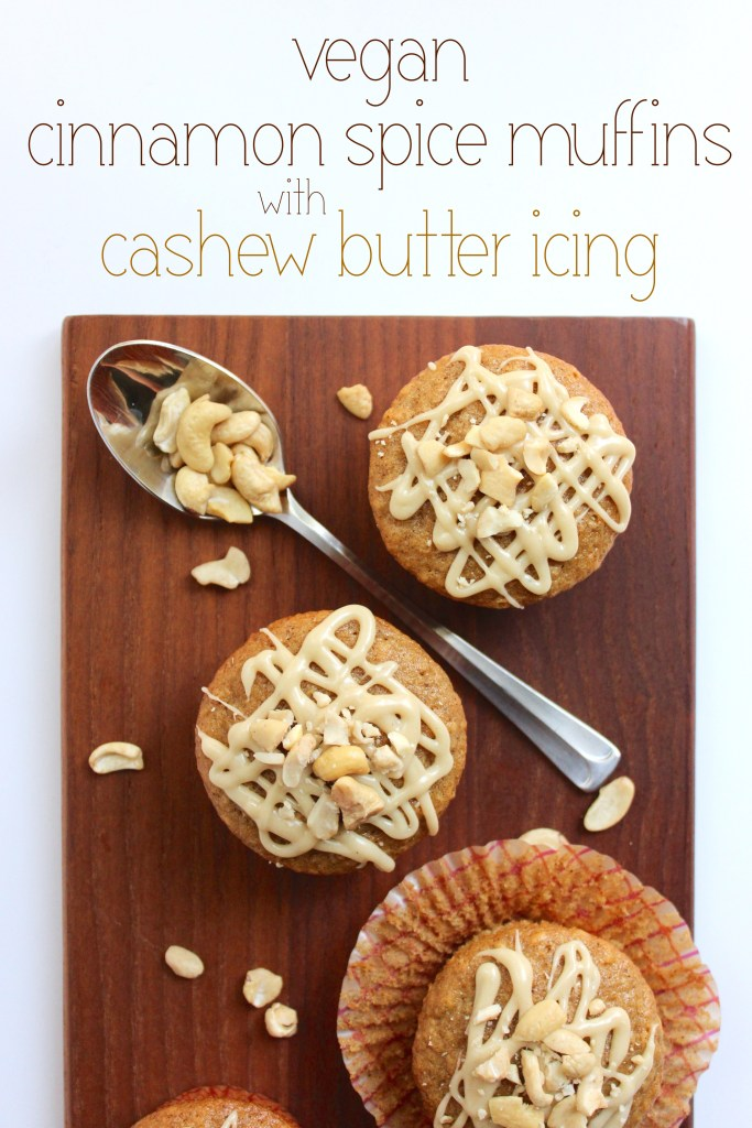 Vegan Cinnamon Spice Muffins with Cashew Butter Icing | So Much Yum