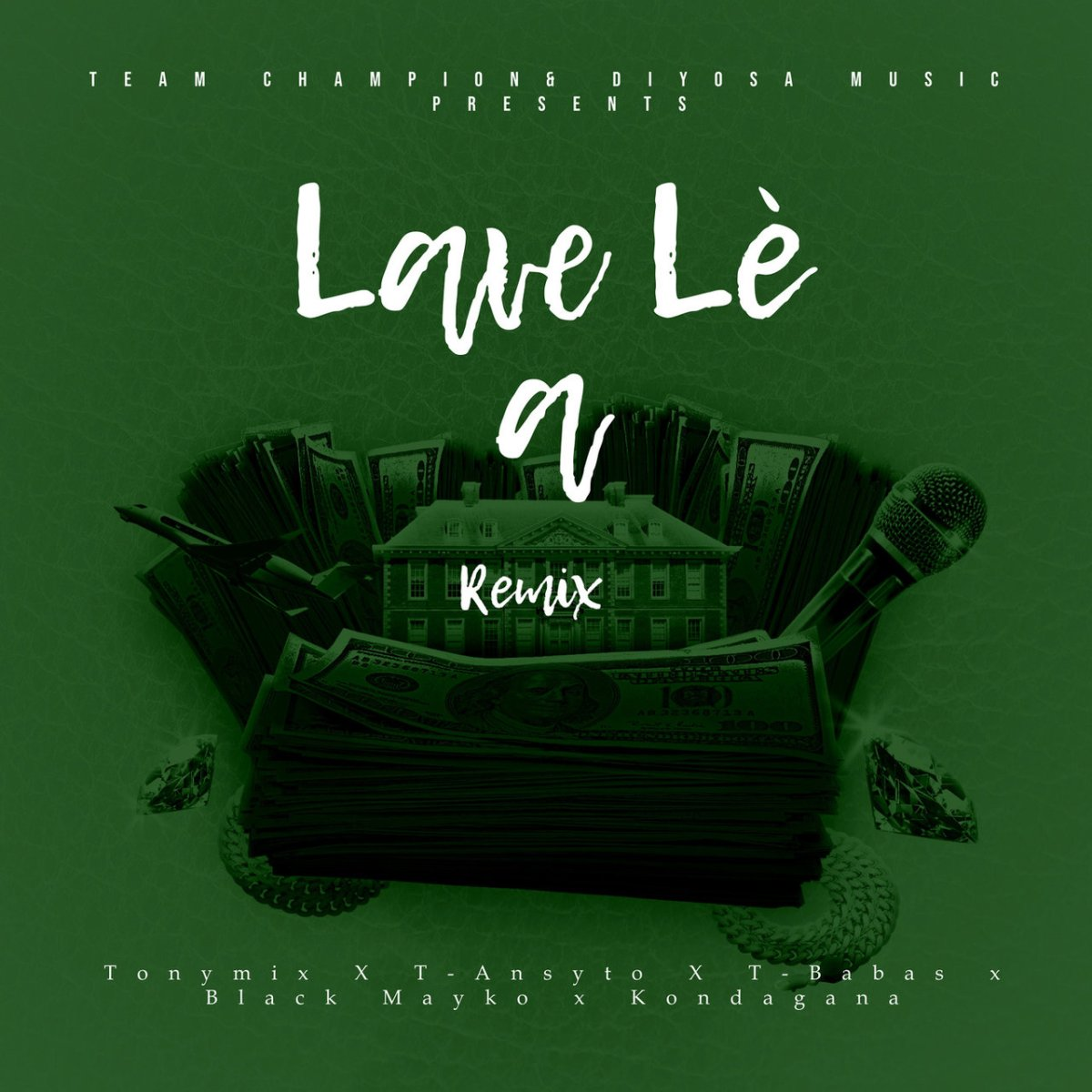 TonyMix and T-Ansyto - Lavé Lè A (Remix) (ft. T-Babas, Black Mayko and Kondagana) (Cover)