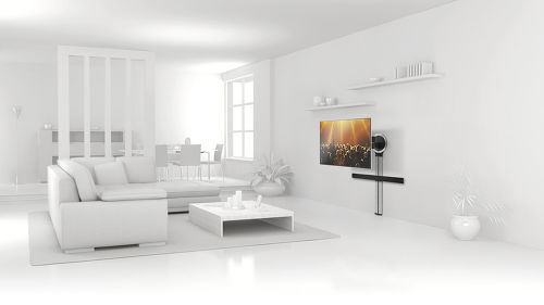 Vogel's DesignMount: support TV + colonne + support barre de son
