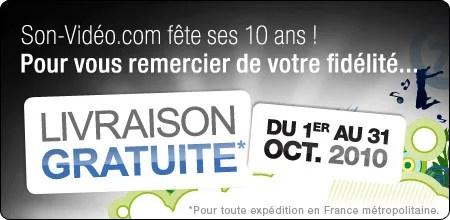 Livraison gratuite jusqu'au 31 octobre