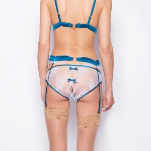 Lila Soft Cup Bra, Diamond Knicker & Suspender Belt by Sonata London