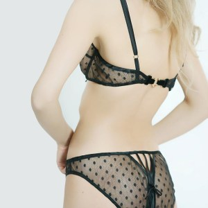 Nour Polka Dot Scrappy Knicker by Sonata London