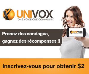univox community inscription