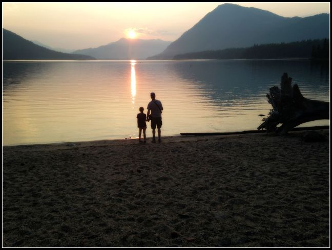 Faith and Grandpa Lake Wenatchee