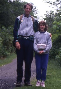 Me with my first Trekker, my dad, in 1991. Don't worry, fanny packs are not required for Trekkers.