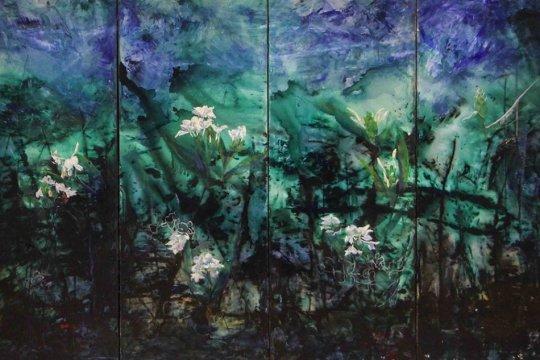 台北油畫展-花語2