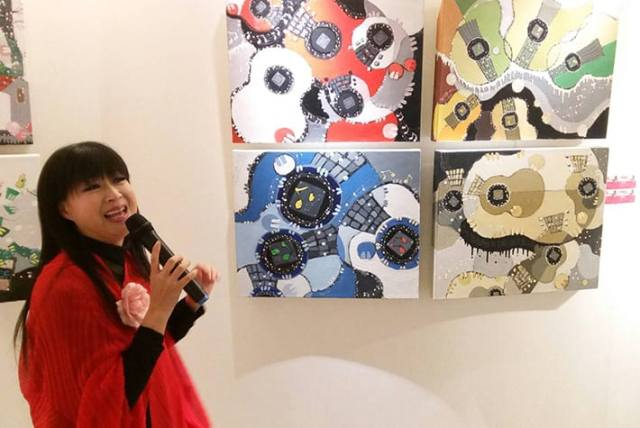 高雄展覽-「南方二重唱」中的「小南方」林小南透過畫布譜寫出一段段無聲的音樂,人文遠雄博物館高雄分館THE ONE GALLERY新春獻禮,21件充滿音樂和故事的畫作。
