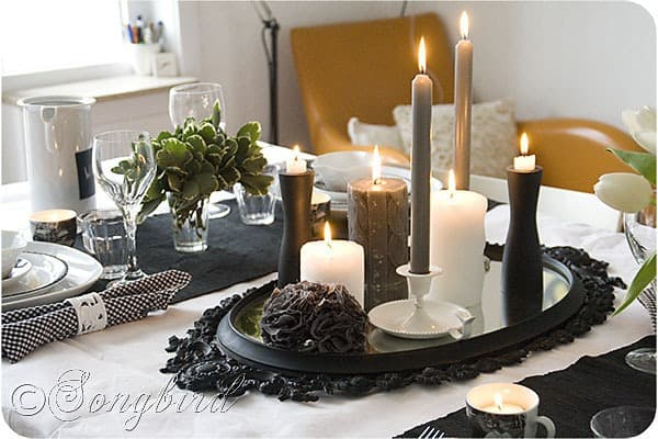 Black Table Ideas White And Setting