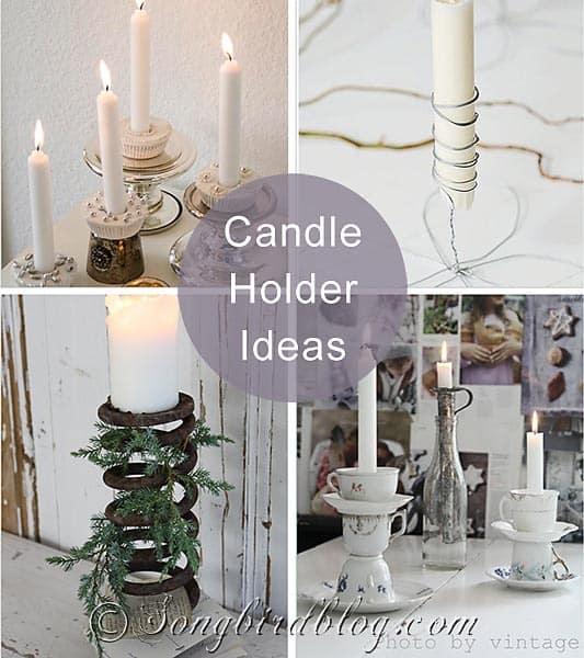 Candle Holder Inspiration Songbird