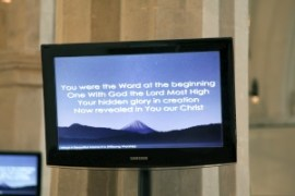Example of Song of Songs on a screen