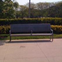 Millennium Park park bench.