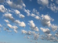Nice sky with puffy clouds.