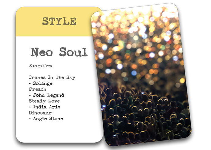 'The Song In My Head' Songwriter Cards: Style – Neo Soul