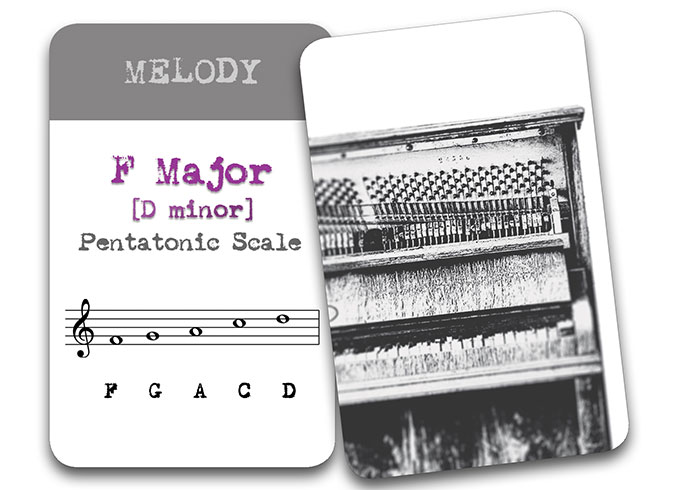 'The Song In My Head' Songwriter Cards: Harmony F Major (D Minor)