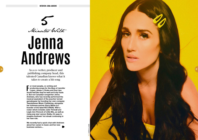 Five minutes with Jenna Andrews